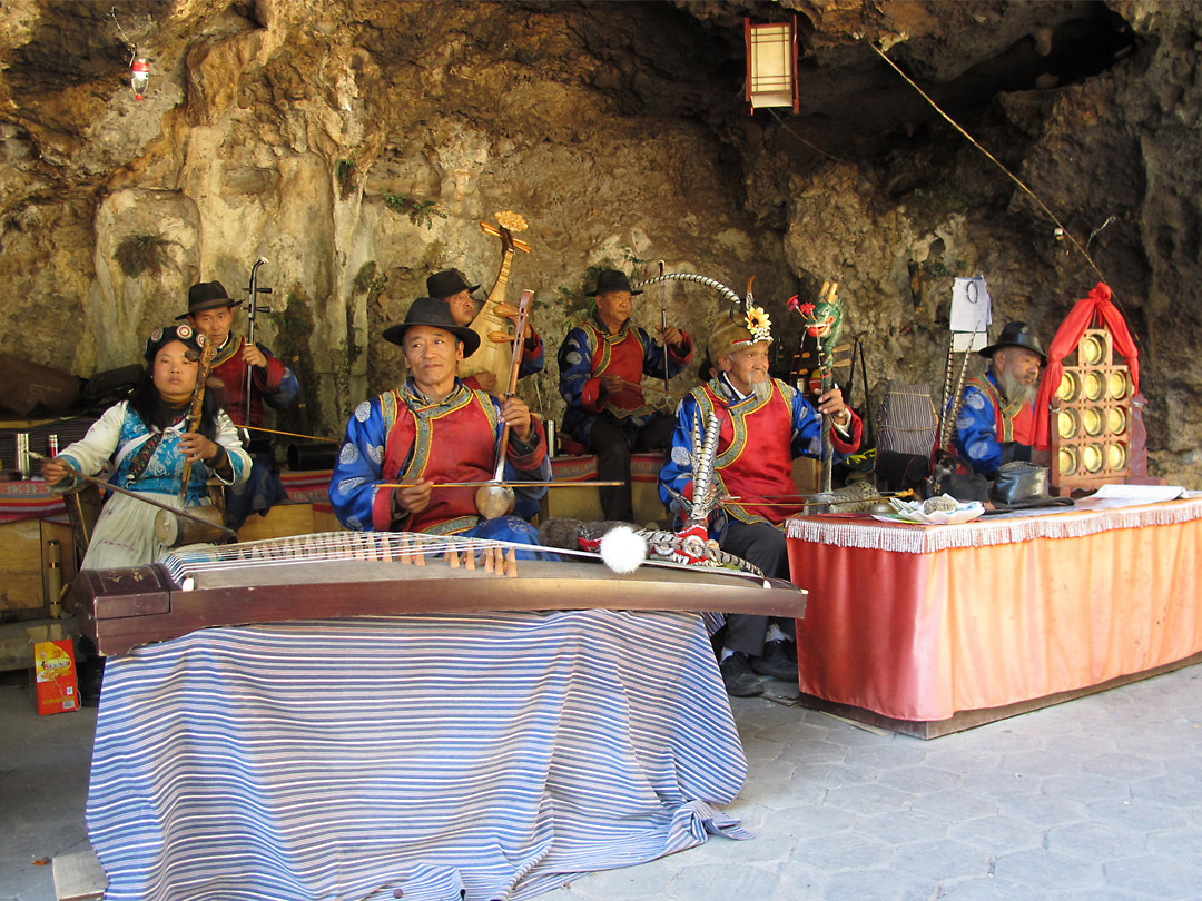 Naxi nationality musicians, Yunnan, China