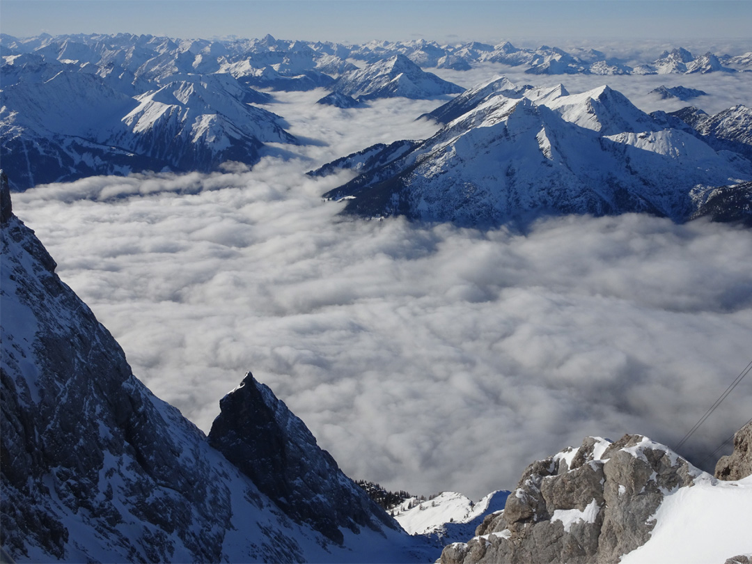 From the summit of the Zugspitze, Bavaria
